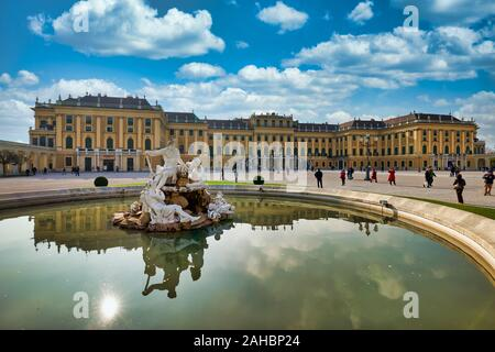 Schonbrunn Palace. Vienna Austria - Stock Photo