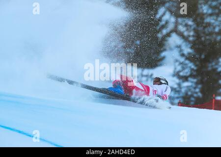 Bormio, Italy. 28th Dec, 2019. reichelt hannes (aut) falling during AUDI FIS World Cup 2019 - Men's Downhill - Ski - Credit: LPS/Sergio Bisi/Alamy Live News - Stock Photo