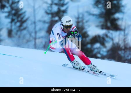 Bormio, Italy. 28th Dec, 2019. clarey johan (fra) 7th classified during AUDI FIS World Cup 2019 - Men's Downhill - Ski - Credit: LPS/Sergio Bisi/Alamy Live News - Stock Photo