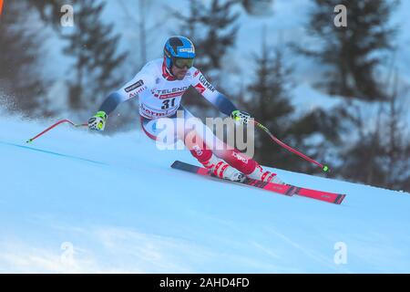 Bormio, Italy. 28th Dec, 2019. muzaton maxence (fra) 9th classified during AUDI FIS World Cup 2019 - Men's Downhill - Ski - Credit: LPS/Sergio Bisi/Alamy Live News - Stock Photo