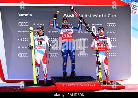 Bormio, Italy. 28th Dec, 2019. Men's Downhill, Ski in Bormio, Italy, December 28 2019 Credit: Independent Photo Agency/Alamy Live News - Stock Photo