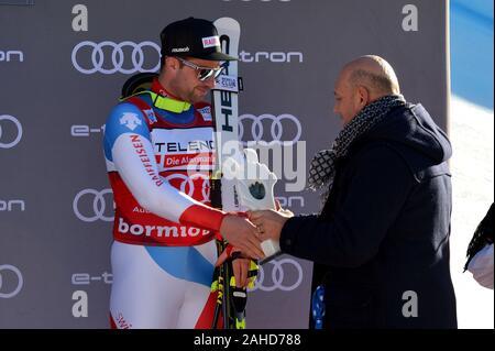 Bormio, Italy. 28th Dec, 2019. beat feuzduring AUDI FIS World Cup 2019 - Men's Downhill, Ski in Bormio, Italy, December 28 2019 - LPS/Giorgio Panacci Credit: Giorgio Panacci/LPS/ZUMA Wire/Alamy Live News - Stock Photo