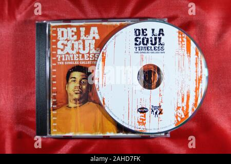 Music CD'S, DE LA Soul Timeless.The Single Collection. - Stock Photo