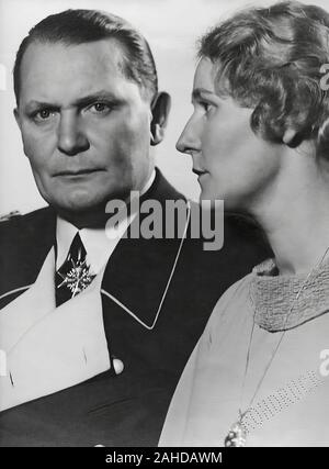 Hermann Göring with his wife, Emmy - Stock Photo