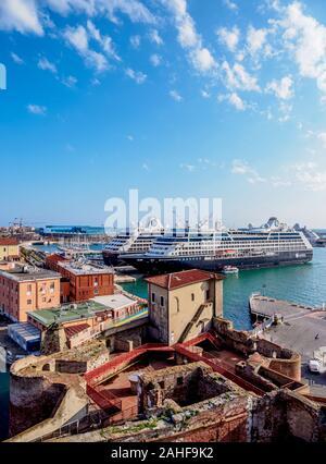 Ships in Port of Livorno, Tuscany, Italy - Stock Photo