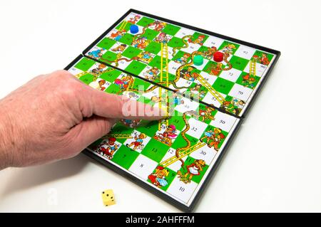 Magnetic Snakes and Ladders childs game. - Stock Photo