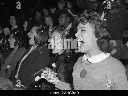 Sports fans at University of Wisconsin - Madison about 1946 - Stock Photo