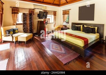 Master bedroom in holiday villa in Phuket, Thailand