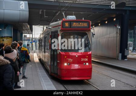 Tram 16 At The Hague Netherlands 2019 - Stock Photo