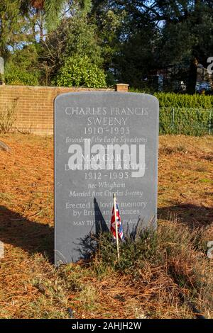 Headstone of Margaret Duchess of Argyll, North Cemetery, Brookwood Cemetery, Cemetery Pales, Brookwood, near Woking, Surrey, southeast England, UK - Stock Photo
