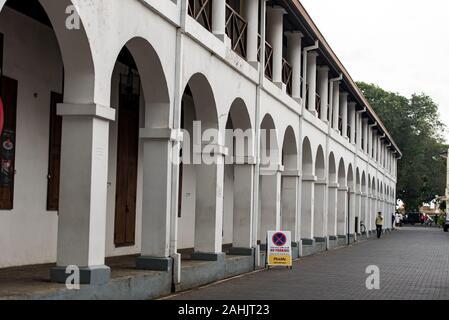 Galle, Sri Lanka. 2019 Nov 19 : Main Street view in Galle Fort in Bay of Galle on southwest coast of Sri Lanka. - Stock Photo