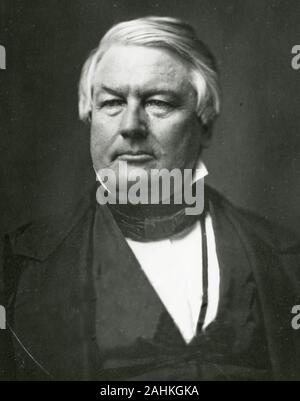Millard Fillmore (January 7, 1800 – March 8, 1874) was the 13th president of the United States (1850–1853), the last to be a member of the Whig Party while in the White House. - Stock Photo