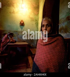 Front view of an elderly woman. - Stock Photo