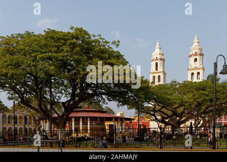 Campeche Cathedraal - Stock Photo