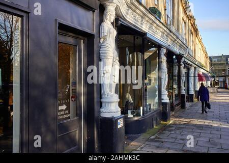 The Caryatid statues in Montpellier, Cheltenham - Stock Photo