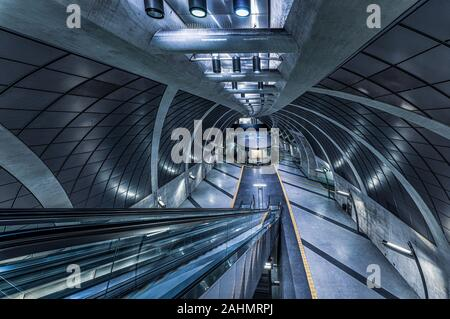 subway station in Cologne, Germany. - Stock Photo