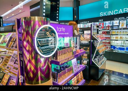 SINGAPORE - CIRCA APRIL, 2019: cosmetics products on display in Sephora at The Shoppes at Marina Bay Sands. - Stock Photo