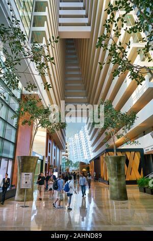 SINGAPORE - CIRCA APRIL, 2019: interior shot of Marina Bay Sands in Singapore. - Stock Photo