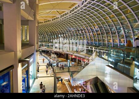 SINGAPORE - CIRCA APRIL, 2019: interior shot of the Shoppes at Marina Bay Sands - Stock Photo