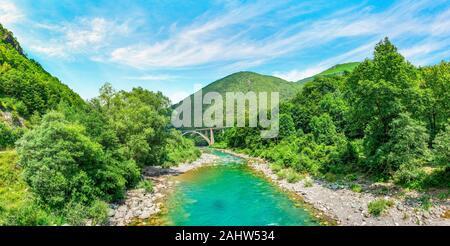 River Tara in mountains - Stock Photo