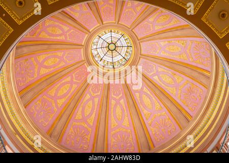 interior of cupola of the Alabama capitol state building in Montgomery - Stock Photo