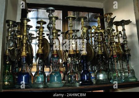 hookah - Tea room in  ISTAMBUL - Bosphorus Strait - TURKEY - Stock Photo
