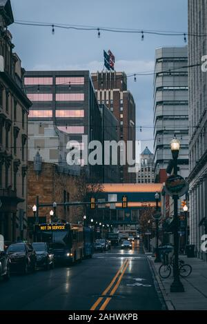 3rd Street in downtown Harrisburg, Pennsylvania - Stock Photo