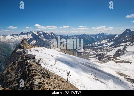 Hintertux glacier in Zillertal valley in Tirol, Austria - Stock Photo
