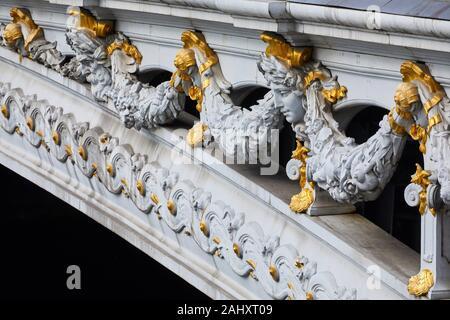 Pont Alexandre III, Paris, France - Stock Photo