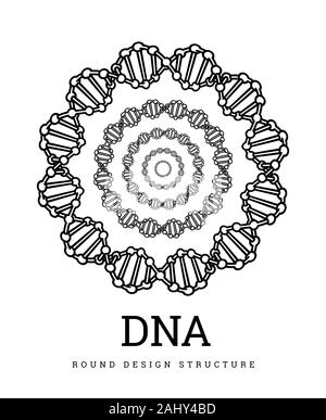 DNA structure. Deoxyribonucleic acid. Vector chemistry illustration on white background. - Stock Photo