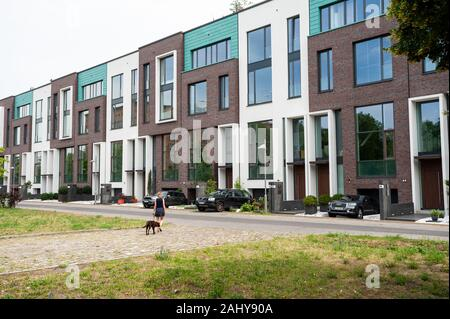 10.06.2019, Berlin, Germany, Europe - New and exclusive residential buildings built as terraced houses in the Mitte locality.