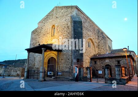 Church of Santa Maria del Castillo in the old town of Buitrago del Lozoya, Madrid, Spain. - Stock Photo