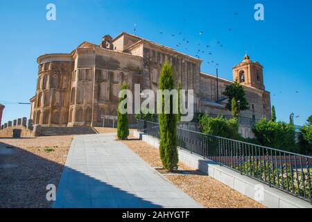 Santa Maria del Castillo church. Madrigal de las Altas Torres, Avila province, Castilla Leon, Spain. - Stock Photo