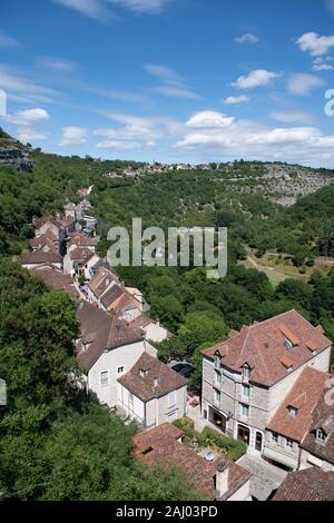 Rue de la Couronnerie, Rocamadour, UNESCO World Heritage Site, Lot, Occitanie, France, Europe. - Stock Photo