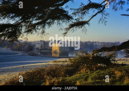 Frosty morning at Leeds Castle. Kent. England. UK