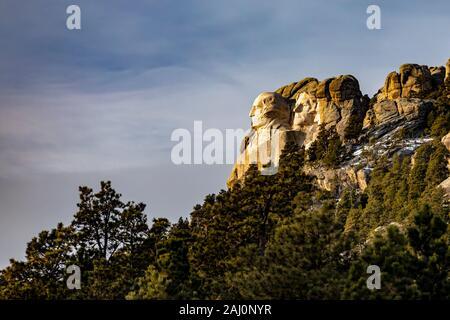 Keystone, South Dakota - Mount Rushmore National Memorial.