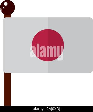 flag nation culture traditional japan icon vector illustration - Stock Photo