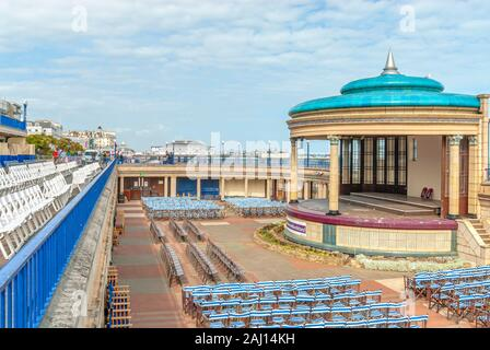 Bandstand at the popular seaside resort of Eastbourne in East Sussex, South England. - Stock Photo