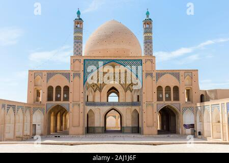 Agha Bozorg Mosque, Inner Courtyard, Kashan, Isfahan Province, Islamic Republic of Iran - Stock Photo
