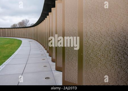 Fallen Memorial Notre-Dame-de-Lorette (Anneau de Mémoire). The monument commemorates the soldiers who died on the ground of the two French departments - Stock Photo