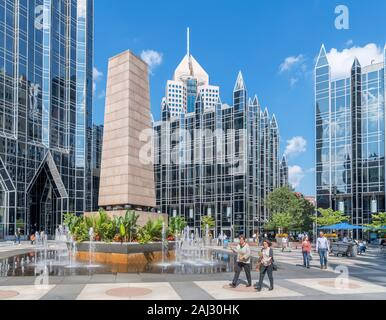 Modern skyscrapers in PPG Place in downtown Pittsburgh, Pennsylvania, USA - Stock Photo