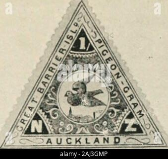 A veteran naturalist : being the life and work of W.B Tegetmeier . The First PigeongramStamp.. IST- - .._ Qattem The Triangular Pigeongram StampGreat Barrier Island. United Counties Flying Club »rt* An .-in uom ro« w« *«• tww msck, «uam >•** - Stock Photo