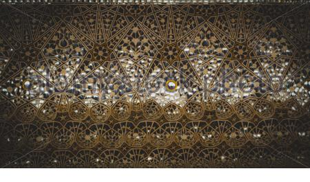 Brown and black floral ceiling - Stock Photo