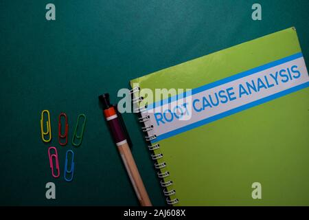 A Root Cause Analysis book isolated on Office Desk - Stock Photo