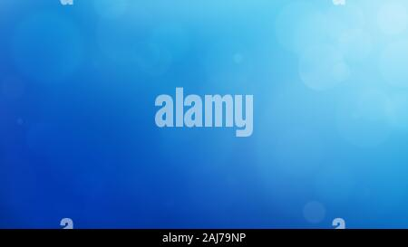 Soft and blurred blue abstract gradient natural background like ocean, with bokeh and copy space. 4k resolution. - Stock Photo