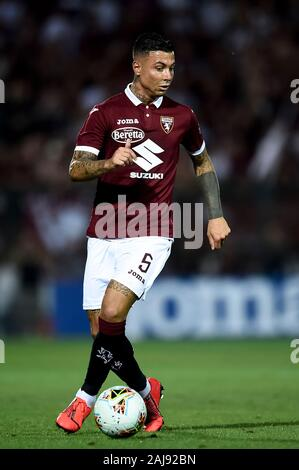 Alessandria, Italy. 25 July, 2019: Armando Izzo of Torino FC in action during the UEFA Europa League second qualifying round football match between Torino FC and Debrecen VSC. Torino FC won 3-0 over Debrecen VSC. Credit: Nicolò Campo/Alamy Live New - Stock Photo