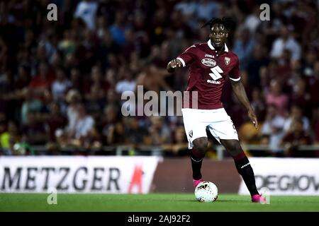 Alessandria, Italy. 25 July, 2019: Soualiho Meite of Torino FC in action during the UEFA Europa League second qualifying round football match between Torino FC and Debrecen VSC. Torino FC won 3-0 over Debrecen VSC. Credit: Nicolò Campo/Alamy Live New - Stock Photo