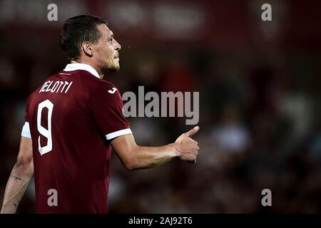 Alessandria, Italy. 25 July, 2019: Andrea Belotti of Torino FC gestures during the UEFA Europa League second qualifying round football match between Torino FC and Debrecen VSC. Torino FC won 3-0 over Debrecen VSC. Credit: Nicolò Campo/Alamy Live New - Stock Photo