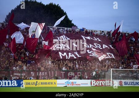 Alessandria, Italy. 25 July, 2019: Fans of Torino FC show their support prior to the UEFA Europa League second qualifying round football match between Torino FC and Debrecen VSC. Torino FC won 3-0 over Debrecen VSC. Credit: Nicolò Campo/Alamy Live New - Stock Photo