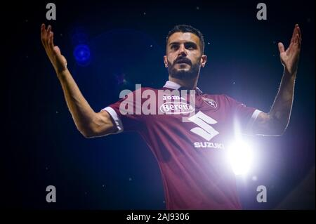Alessandria, Italy. 25 July, 2019: Iago Falque of Torino FC gestures during the UEFA Europa League second qualifying round football match between Torino FC and Debrecen VSC. Torino FC won 3-0 over Debrecen VSC. Credit: Nicolò Campo/Alamy Live New - Stock Photo